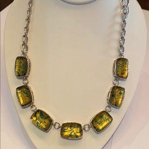 Bijoux turner statement necklace yellow green